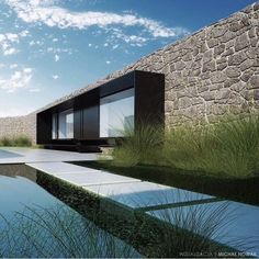 Stunning utilization of existing brick facade with modern, chic steel Architecture Design, Residential Architecture, Amazing Architecture, Contemporary Architecture, Landscape Architecture, Landscape Design, Design Exterior, Modern Exterior, Facade Design