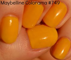 Maybelline Colorama #749,  yellow nails,  #manicure