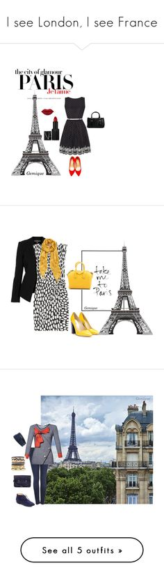 """""""I see London, I see France"""" by gemique ❤ liked on Polyvore featuring H&M, Yumi, Charlotte Olympia, Pull&Bear, NARS Cosmetics, Topshop, Diane Von Furstenberg, Pollini, Givenchy and Halogen"""