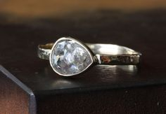 Alexis Russell — Silver-Clear Rose Cut Diamond RIng in 14kt Gold