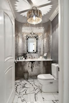 I know we aren't talking about the bath, but this was such a great glamorous room!