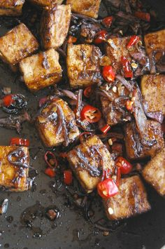Ottolenghi's Spicy Black Pepper Tofu With Steamed Rice!Best dinner ever!NaiveCookCooks.com