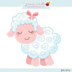 Pink Sheep   Jw Illustrations   Cute Little Pink Lamb   I Love Ewe