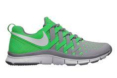 NIKE FREE TRAINER 5.0 (STADIUM GREY POISON GREEN) Mens Training Shoes 2458e473bb