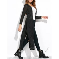 26.4$  Buy now - http://dij68.justgood.pw/go.php?t=199041204 - Open Knit Side Slit Duster Cardigan 26.4$