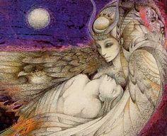 The ISIS Ploy: Illuminati Sorcery and Sacrifice - .Isis in turn goes back to Sumer and the goddess Semiramis, or Ishtar, an embodiment of this same esoteric deity. Isis Goddess, Egyptian Goddess, Goddess Art, Mother Goddess, Fantasy Kunst, Fantasy Art, Osiris Isis, Fantasy Life, Mystique
