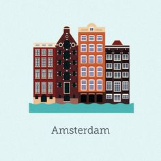 Vector Cities | Gloria Ciceri || Illustration, City, House, Amsterdam, Holland, Graphic Design
