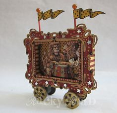 Circus Wagon out of an Altered Altoids Tin