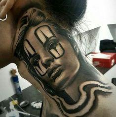 beautiful Day of the Dead tattoo ideas © tattoo artist Chicano Ace 💗👑💗👑💗👑💗👑💗 Chicanas Tattoo, Throat Tattoo, Clown Tattoo, Inca Tattoo, Tattoo Chicana, Chicano Tattoos Sleeve, Skull Tattoos, Hand Tattoos, Tatoos