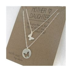 Mother Daughter Necklace Set - butterflies - mother daughter jewelry