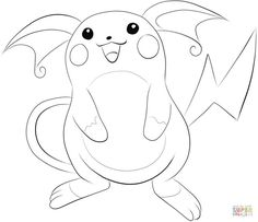 Raichu coloring page from Generation I Pokemon category. Select from 31983 printable crafts of cartoons, nature, animals, Bible and many more. Pokemon Coloring Pages, Cute Coloring Pages, Free Printable Coloring Pages, Coloring Pages For Kids, Free Coloring, Coloring Books, Pikachu, My Pokemon, Printable Crafts