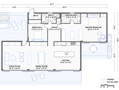 Blu Homes Glidehouse floorplan 2 bedroom. Love the idea of a great room w three sets of doors and surrounded by windows.