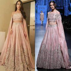 Nora Fatehi in SVA's most wanted nayantara lehenga.  #getthelook #sva #norafatehi #ethnicwear #celebstyle #celebcloset #indianfashion #indiandesigners #shopnow #Perniaspopupshop #happyshopping