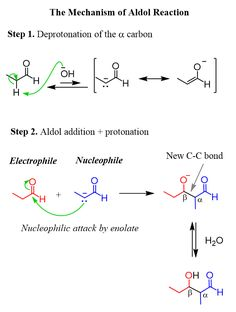 Aldol Reaction - Principles and Mechanism - Chemistry Steps Chemistry Notes, Chemistry Lessons, Physics Formulas, Science Student, Organic Chemistry, Study Materials, Science And Nature, Knowledge, Positivity