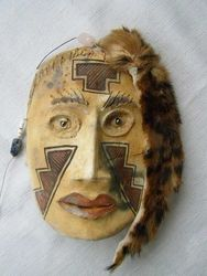 Native American Ceremonial Masks Clay Southwest American Indian Mask Navajo