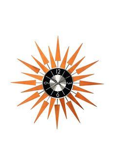 George Nelson Wooden Sunburst Clock, Caramel, http://www.myhabit.com/redirect/ref=qd_sw_dp_pi_li?url=http%3A%2F%2Fwww.myhabit.com%2Fdp%2FB004E2C4PE