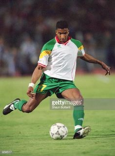 Habib Beye of Senegal in action during the FIFA 2002 World Cup Qualifier against Egypt played in Cairo Egypt Egypt won the match 1 0 Mandatory Credit...