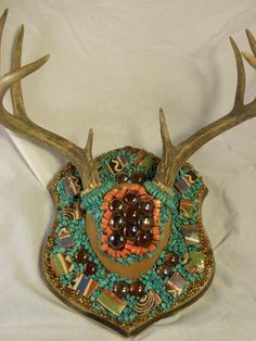 Deer Skull Mount Decorated for Wall Hanging or Shelf by XXRanchArt, $125.00