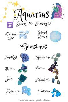 Aquarius Sign, Aquarius Facts, Aquarius Zodiac, Crystals And Gemstones, Stones And Crystals, Chakras, Crystal Aesthetic, Crystal Healing Stones, Zodiac Star Signs