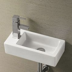 Rondo Wall Hung Small Cloakroom Basin | Now At Victorian Plumbing