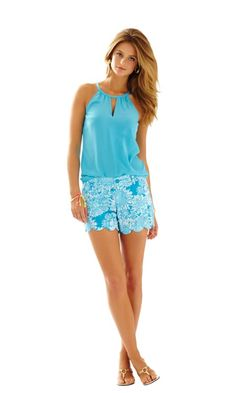 5 Inch Buttercup Scallop Hem Short - Lilly Pulitzer