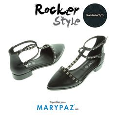 Aporta ese toque rocker a tu outfit diario con nuestras manoletinas pala talón New Collection SS/15   #‎bereal‬ ‪#‎i‬<3MARYPAZ ‪#‎it‬'sspring#springON ‪#‎feelgood‬ ‪#‎feelMARYPAZ‬ ‪#‎SS15‬#springsummer15#primaveraverano15 ‪#‎trendy‬ ‪#‎moda‬ ‪#‎cool‬  Shop at ► http://www.marypaz.com/tienda-online/pala-talon-en-t-con-tachuelas-y-doble-hebilla-41851.html?sku=70959-42  Conoce nuestra New Collection SS/15 ► http://www.marypaz.com/tienda-online/index.php/new-collection-ss-15.html