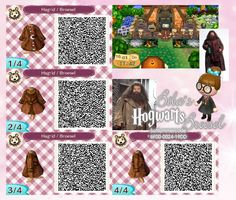 Hagrid Robe - Mantel - Wizard - Zauberer -Broesel Spiel - A letter from Hogwarts - Harry Potter - Animal Crossing New Leaf - ACNL - QR - Broesel