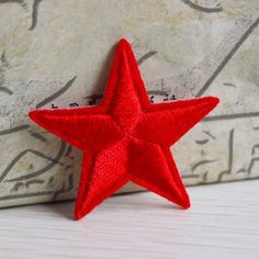 5pcs Sew Iron on Patch Star Embroidered Red Badge Bag Applique Cloth Crafts