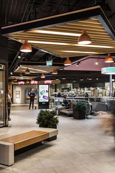 Grorud Kjøpesenter - shopping mall on BehanceYou can find Shopping malls and more on our website.Grorud Kjøpesenter - shopping mall on Behance Atrium Design, Roof Design, Ceiling Design, Mall Design, Retail Design, Store Design, Commercial Design, Commercial Interiors, Food Court Design