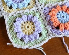 Granny Flower Square - free pattern