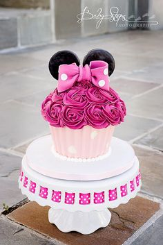 Birthday Cakes - Minnie Mouse Smash Cake