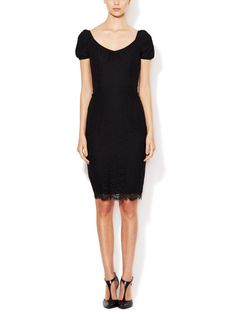 Cotton Lace Cap Sleeve Dress by Dolce & Gabbana at Gilt
