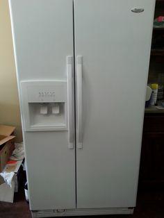 whirlpool side by side refrigerator white. evrything4sale\u0027s garage. refrigerator freezerwater dispensergarageice. whirlpool white side-by-side side by