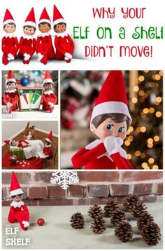 Reasons Why Your Elf on the Shelf Didn't Move! - Did you forget to move the elf? Here are a few reasons that will buy your more time! Elf on a Shelf ideas and more.