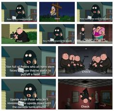 "When they pointed out several heist movie clichés. | Community Post: 25 Times ""Family Guy"" Was Right About Everything"