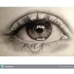 Pencil Drawing Of Crying Eye Sketching Chloe Tao ❤ liked on Polyvore featuring backgrounds, extras, eyes, people, filler, phrase, quotes, saying and text
