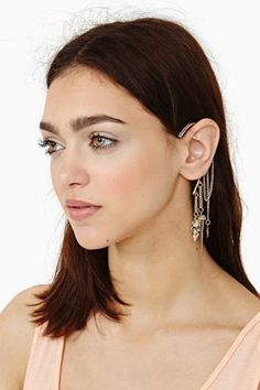 Nasty Gal - Pyrite Spiked Ear Cuff #15Things #fashion #style #trending #silver #earcuff #spiked