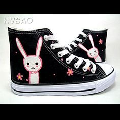 """""""Cute Rabbit"""" Canvas Sneakers from #YesStyle <3 HVBAO YesStyle.com"""