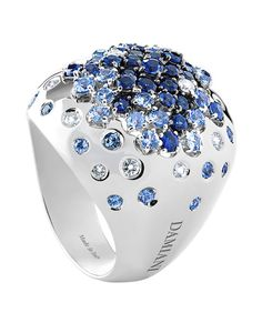 Jewelry brand Damiani, continues to demonstrate its excellence in Italian design with new collections that sparkle with a liberal use of colorful gold and gemstones. DAMIANI Paradise Ring in white gold with diamonds and sapphires. I Love Jewelry, Jewelry Gifts, Jewelry Box, Jewelry Accessories, Fine Jewelry, Unique Jewelry, Jewelry Stores, Handmade Jewelry, Irish Jewelry
