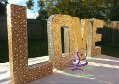 Say it with Love the Sophisticated Life Design way. Add these customized letters to your wedding sign-in-table, cake table or even your