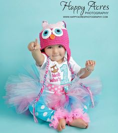 First Birthday Girl Complete Outfit Owl Hoot by whimsytots on Etsy, $90.50