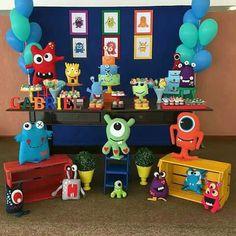 Little Monster Birthday, Monster 1st Birthdays, Monster Birthday Parties, First Birthdays, First Birthday Themes, 1st Boy Birthday, Birthday Ideas, Monster Cupcakes, Baby Party
