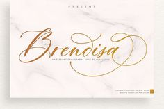 Ad: Brendisa Script by Jamalodin on P R E S E N T Brendisa Script Brendisa Script Script is modern calligraphy script font, every single letters has been carefully crafted to Handwritten Fonts, Calligraphy Fonts, Script Fonts, New Fonts, Modern Calligraphy, Font Logo, Caligraphy, Invitation Fonts, Modern Fonts