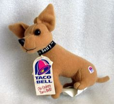 Taco Bell dog plush -No one remembers him anymore! :(