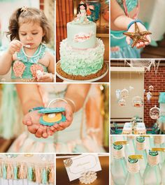 {Under the Sea} Gorgeous Mermaid Birthday Party... Pinning this for me. Not for a daughter someday.  Well, maybe for that too.