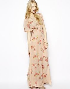 ASOS Pretty Maxi Dress In Floral Print