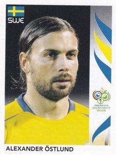 Alexander Ostlund of Sweden. 2006 World Cup Finals sticker. 2006 World Cup Final, Finals, Sweden, Sticker, Baseball Cards, Sports, Hs Sports, Final Exams, Stickers