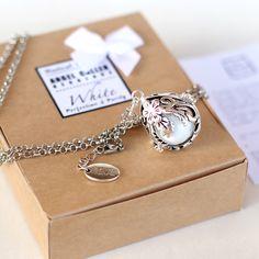Maternity necklace Pregnancy necklace caller angel whisperer EGG 18mm Harmony ball Ethnic box Indian silver gold chime Sound wishing pendant by petitesalu on Etsy https://www.etsy.com/listing/174610142/maternity-necklace-pregnancy-necklace