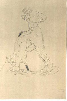 The Art Theoretical: Gustav Klimt - Drawings Life Drawing, Figure Drawing, Painting & Drawing, Franz Josef I, Baumgarten, Klimt Art, Illustrations, Illustration Art, Erotic Art
