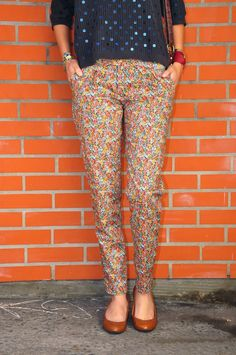 lisallu: Pantalon Jacques... à fleurs !